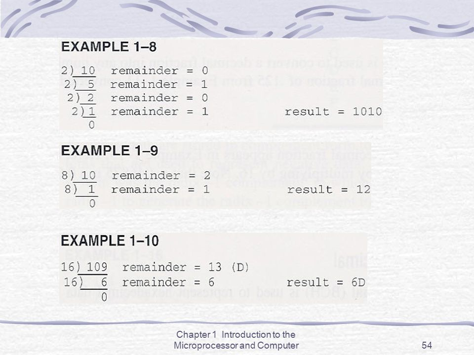 Chapter 1 Introduction to the Microprocessor and Computer54