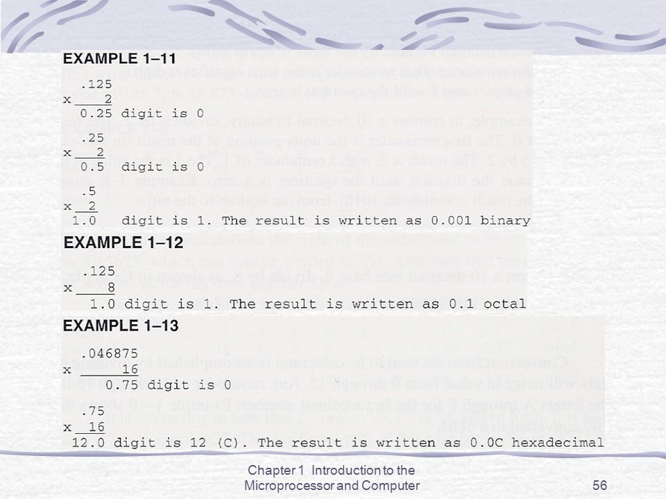 Chapter 1 Introduction to the Microprocessor and Computer56