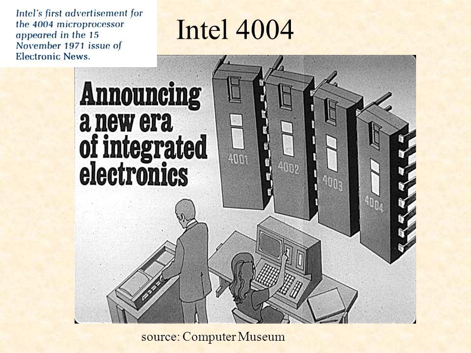 Intel 4004 source: Computer Museum