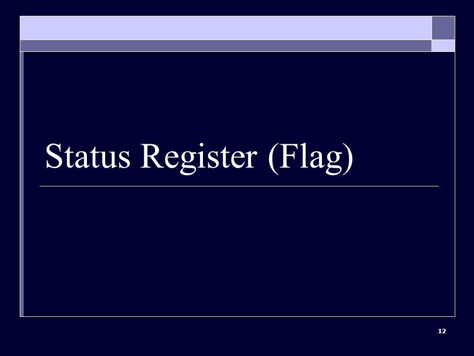 12 Status Register (Flag)