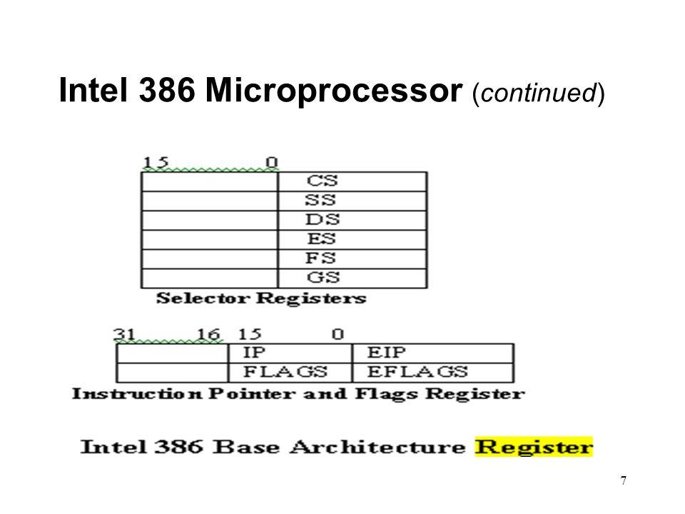 7 Intel 386 Microprocessor (continued)
