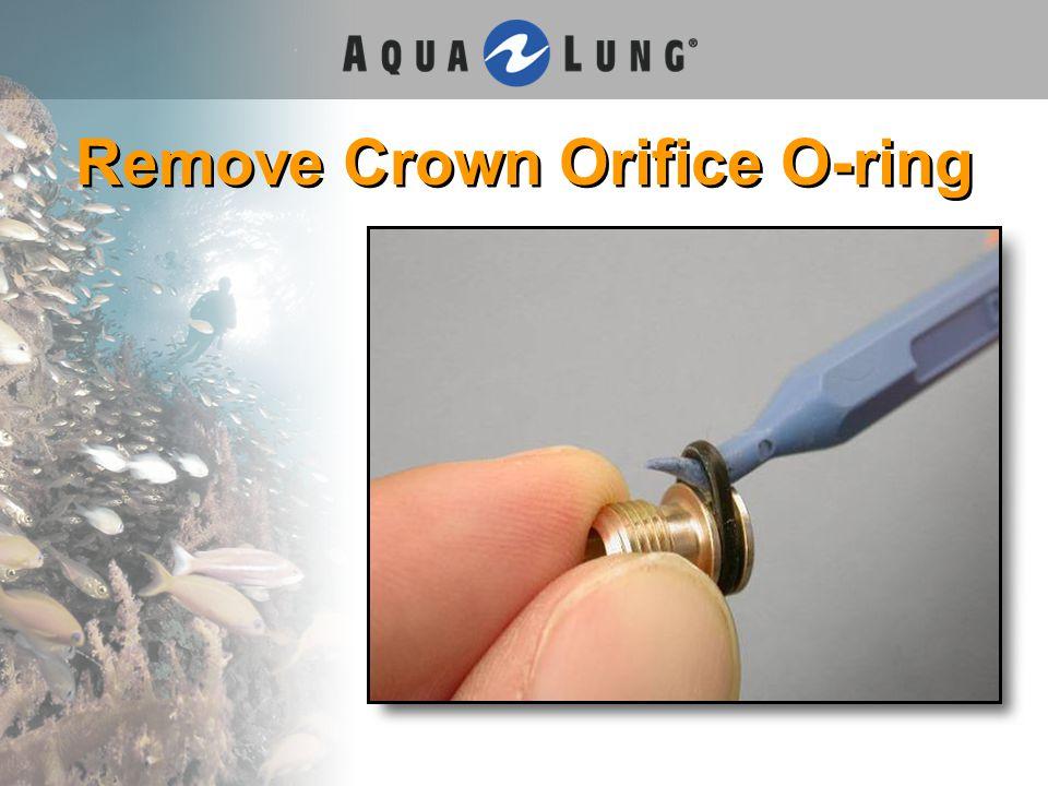 Remove Crown Orifice O-ring