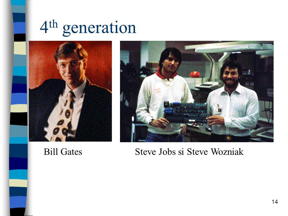 14 4 th generation Bill GatesSteve Jobs si Steve Wozniak