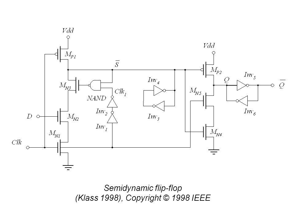 Semidynamic flip-flop (Klass 1998), Copyright © 1998 IEEE