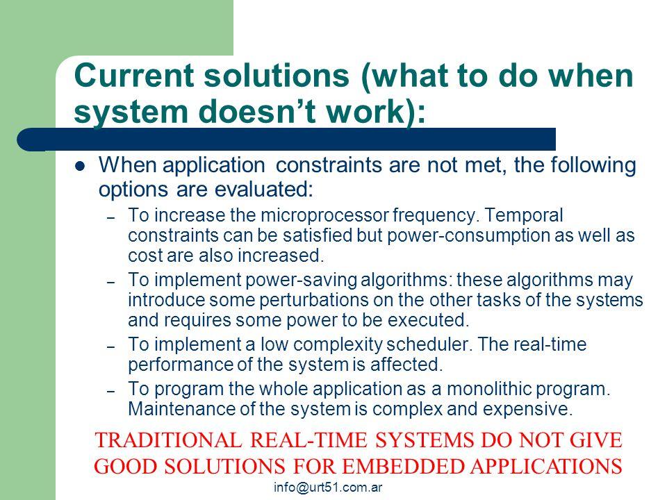 info@urt51.com.ar Verifying a Traditional Real-Time System.