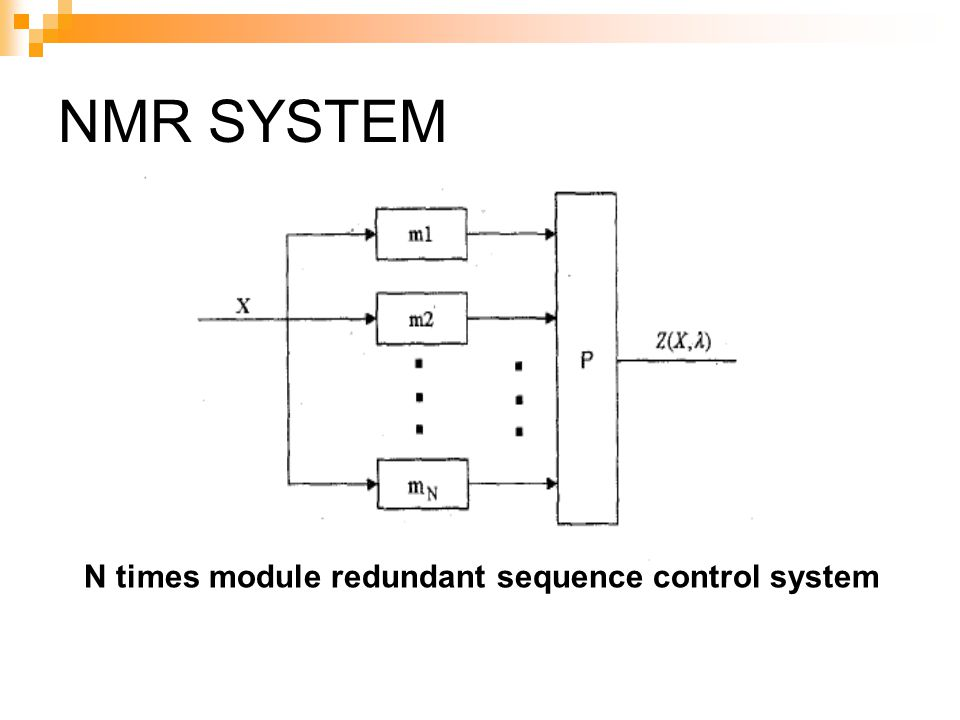 NMR SYSTEM N times module redundant sequence control system