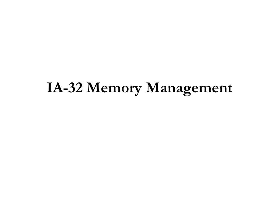 IA-32 Memory Management