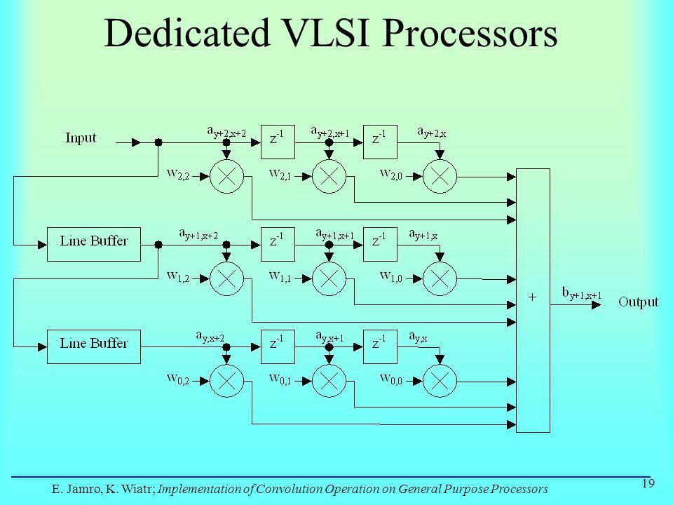 E. Jamro, K. Wiatr; Implementation of Convolution Operation on General Purpose Processors 19 Dedicated VLSI Processors