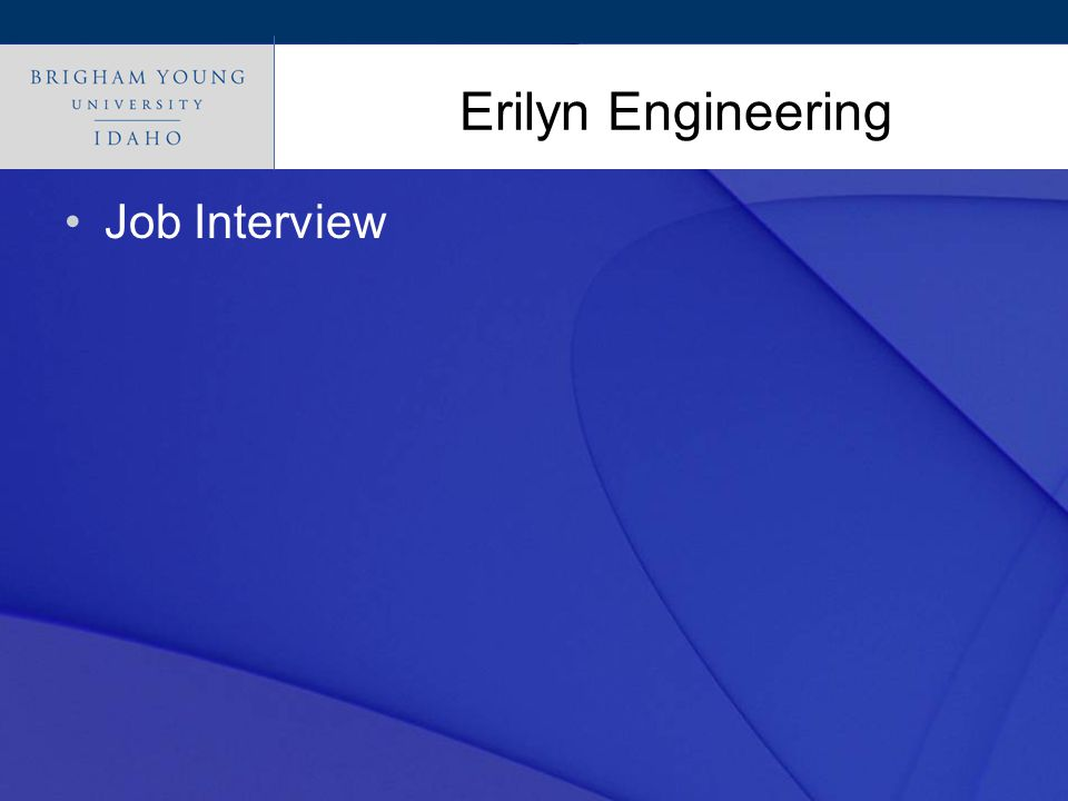 Click to edit Master title style Erilyn Engineering Job Interview