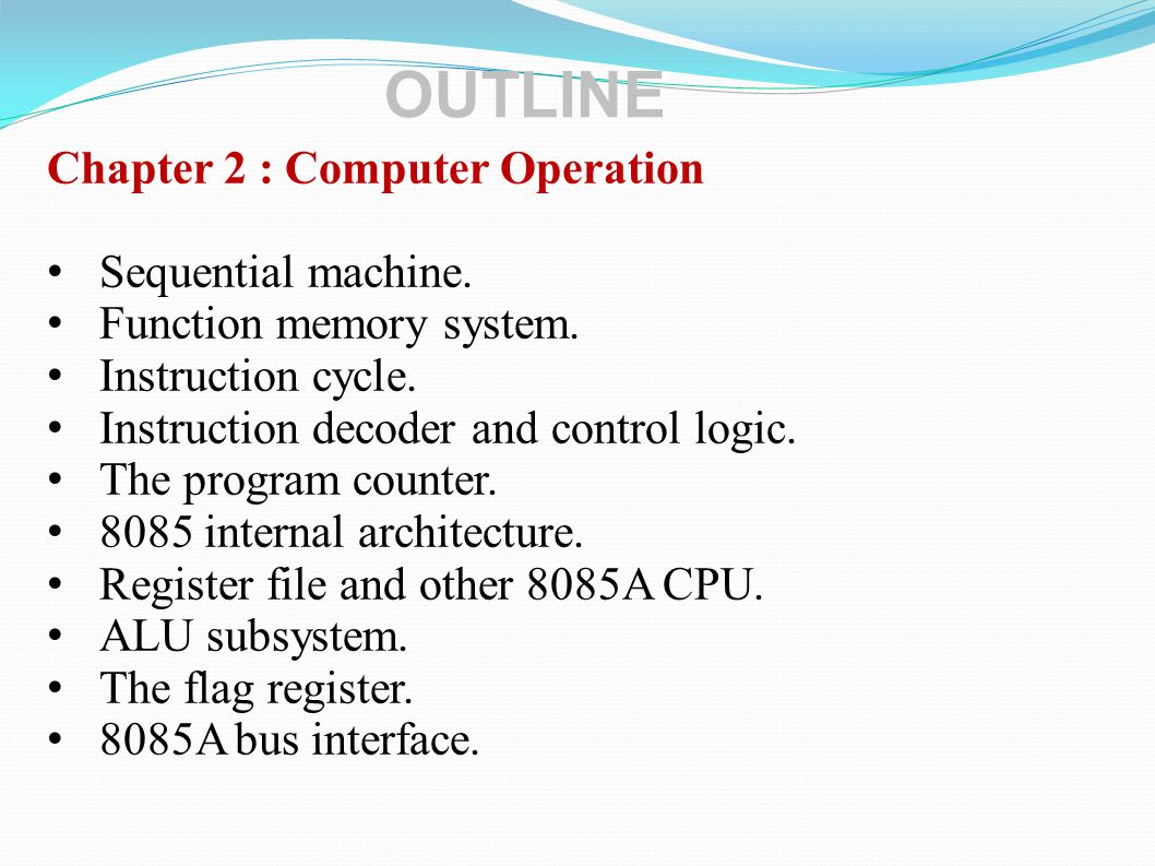Chapter 3 : CPU Sequencing Introduction cycles Machine cycles.