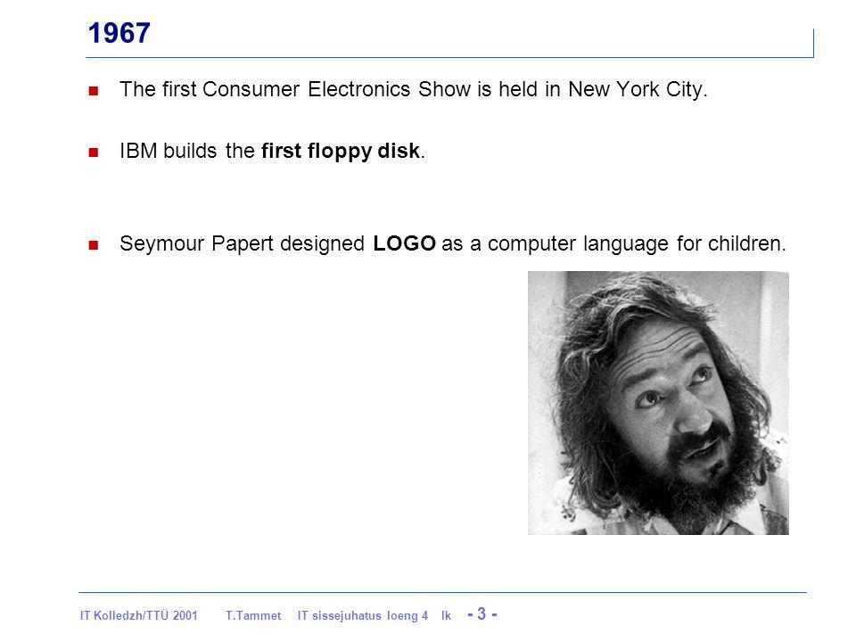 IT Kolledzh/TTÜ 2001 T.Tammet IT sissejuhatus loeng 4 lk - 34 - 1976 To date, MITS has shipped over 10,000 Altair 8800 kits.