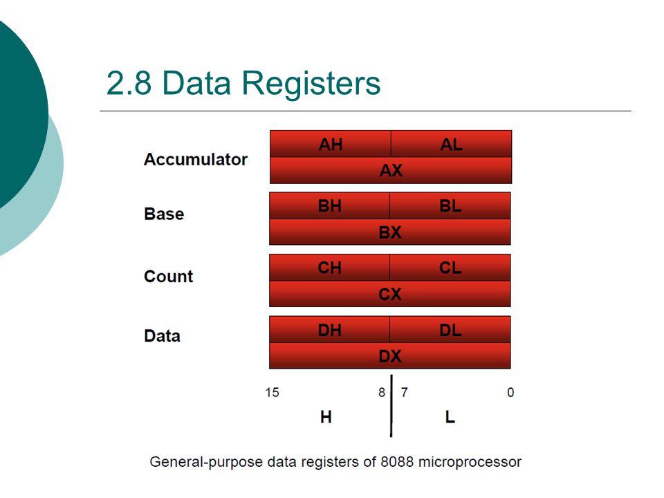 2.8 Data Registers