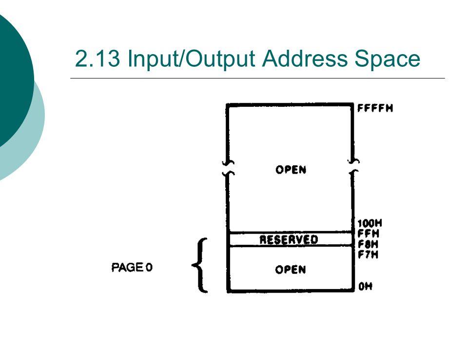 2.13 Input/Output Address Space
