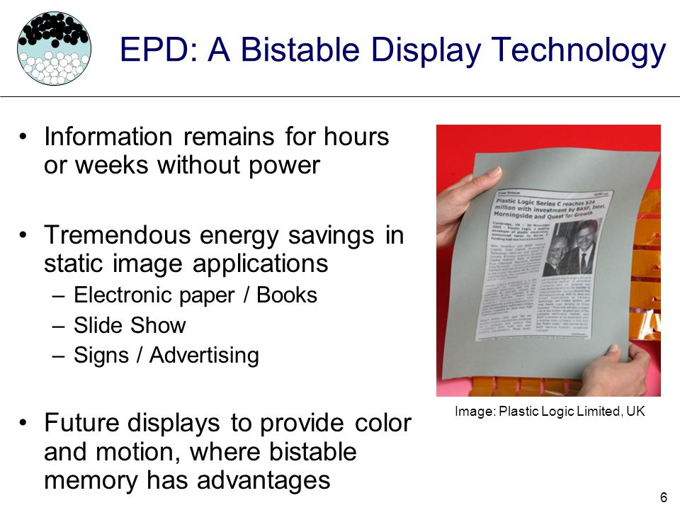 17 Agenda Electrophoretic Displays Contributions Previous Work EPD Power Model Display Driver –Naive Driver –Smart/Lazy Driver Results Conclusion