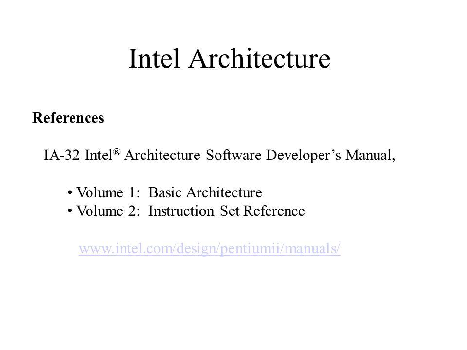 Intel Assembly
