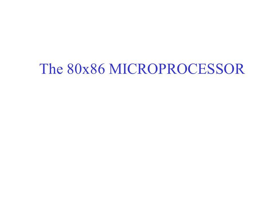 The 80x86 MICROPROCESSOR
