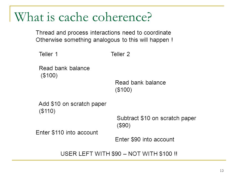 13 What is cache coherence.