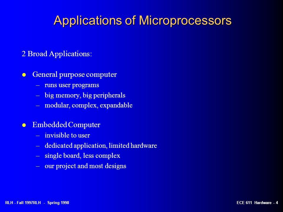 RLH - Spring 1998ECE 611 Hardware - 14 8086 Micropocessor Interface Signals (1)