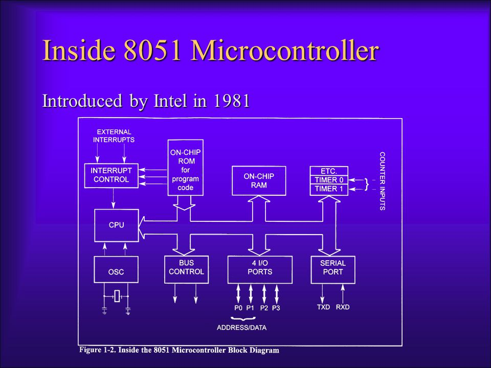 Inside 8051 Microcontroller Introduced by Intel in 1981