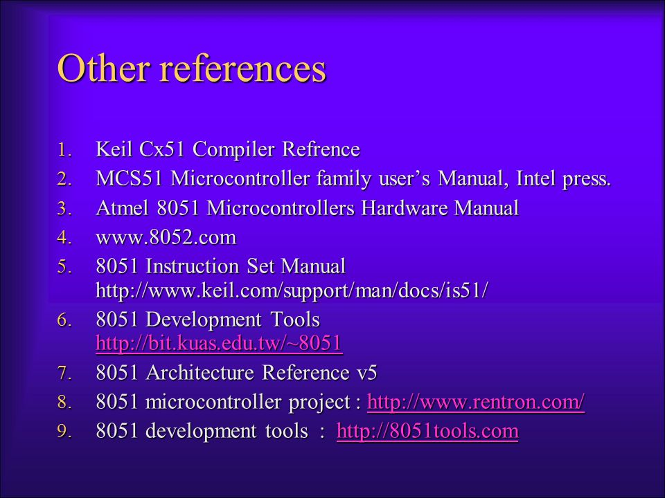Embedded Products Using Microcontrollers Office –Telephones, computers, security systems, fax machines, microwave, copier, laser printer, color printer, paging