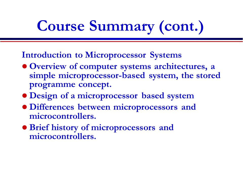 Main Points Digital Electronics use many exciting applications Introduction to digital electronics Number systems: Decimal, binary and hex Converting from one number system into another