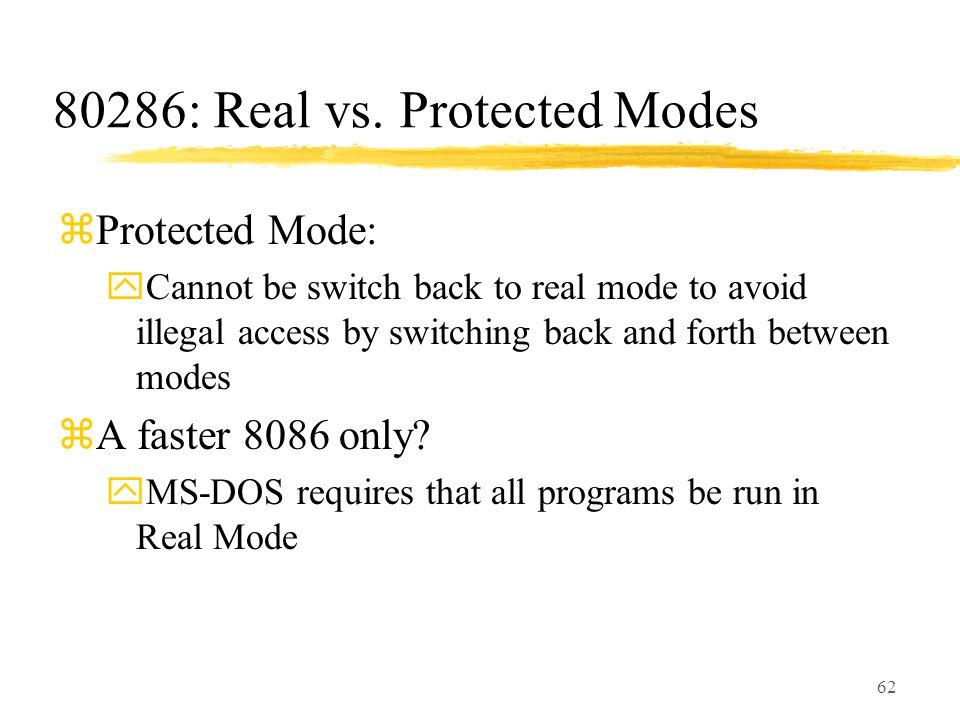 62 80286: Real vs.