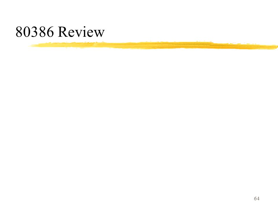 64 80386 Review