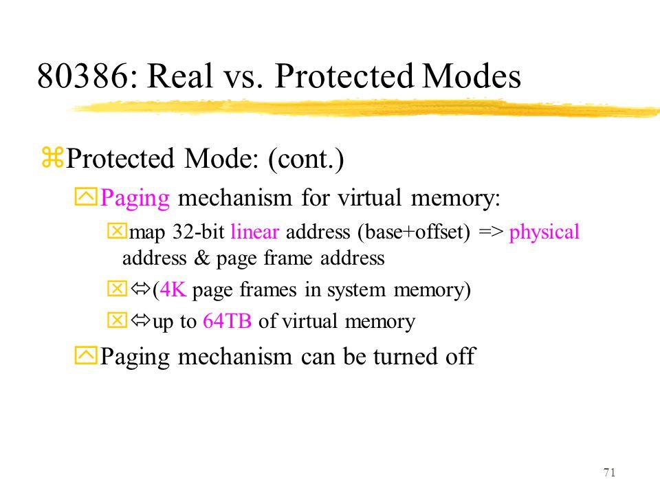 71 80386: Real vs.
