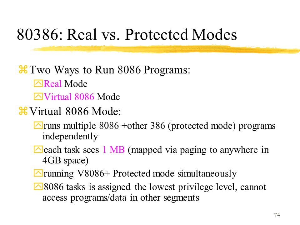 74 80386: Real vs.