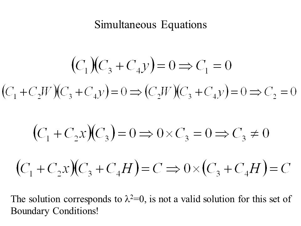 l 2 =0 Solution