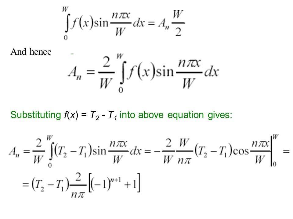 Substituting these Fourier integrals in to solution gives:
