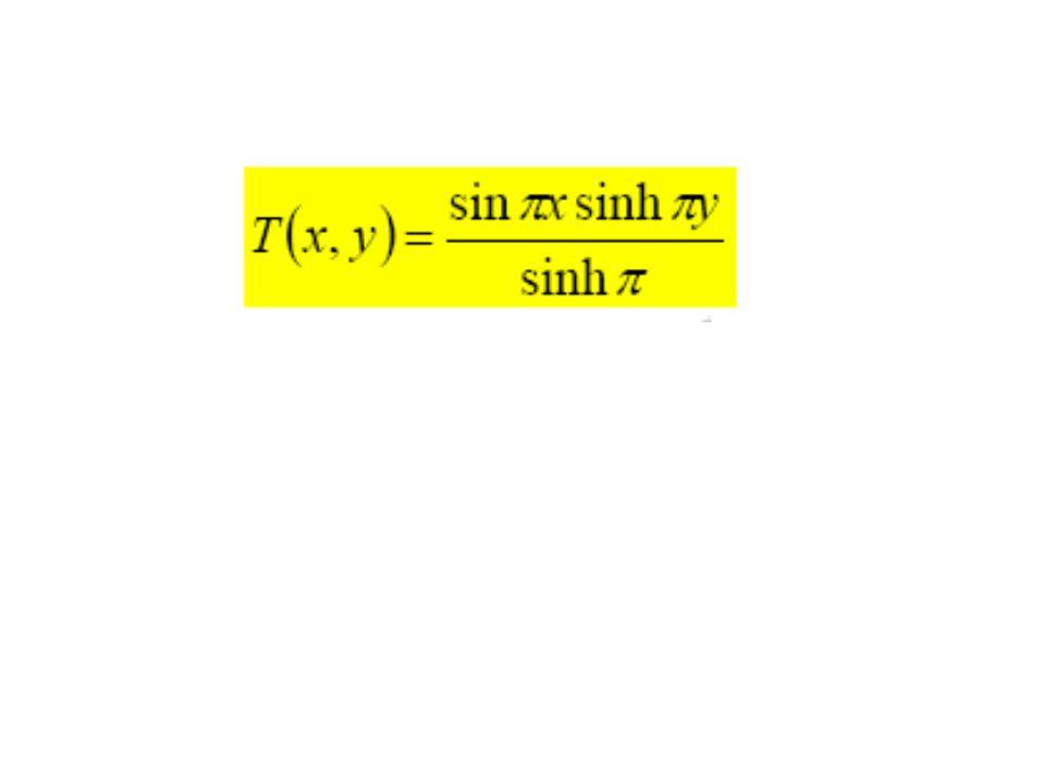 Sinusoidal Temperature B.C. 0 W H x y q = 0 q = Cx