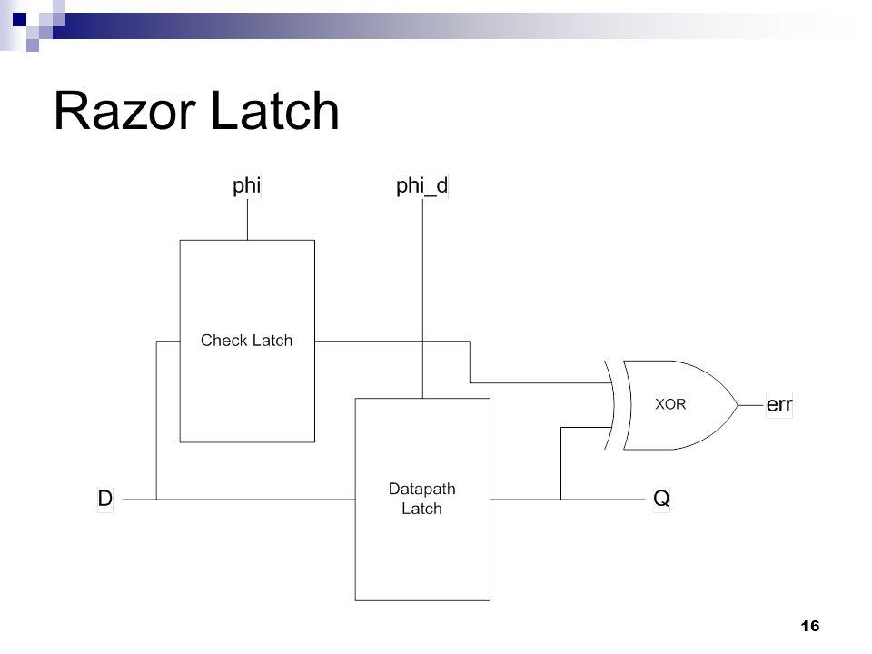 16 Razor Latch