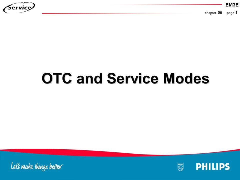 EM3E chapter 05 page 1 OTC and Service Modes