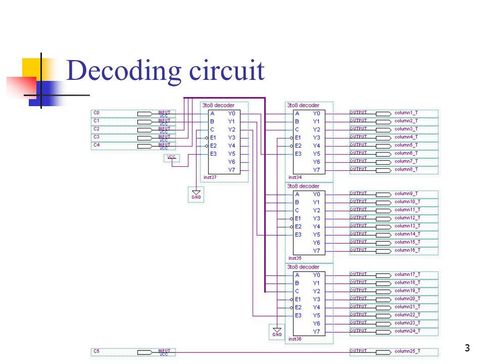 3 Decoding circuit