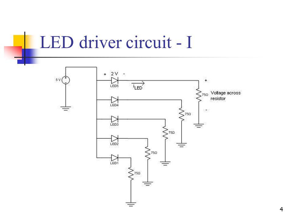 4 LED driver circuit - I