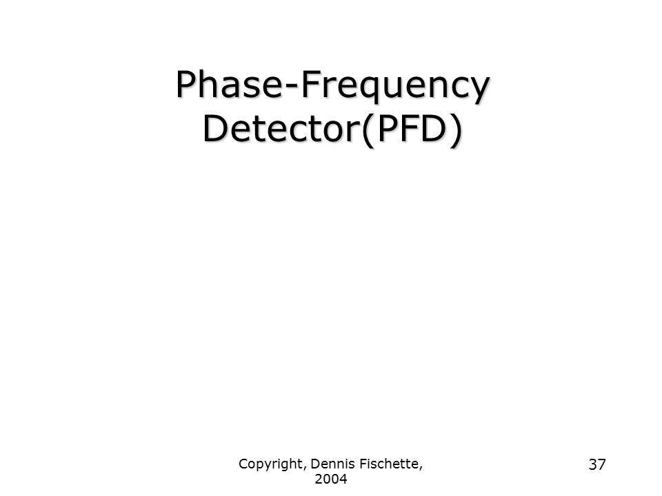 Copyright, Dennis Fischette, 2004 37 Phase-Frequency Detector(PFD)