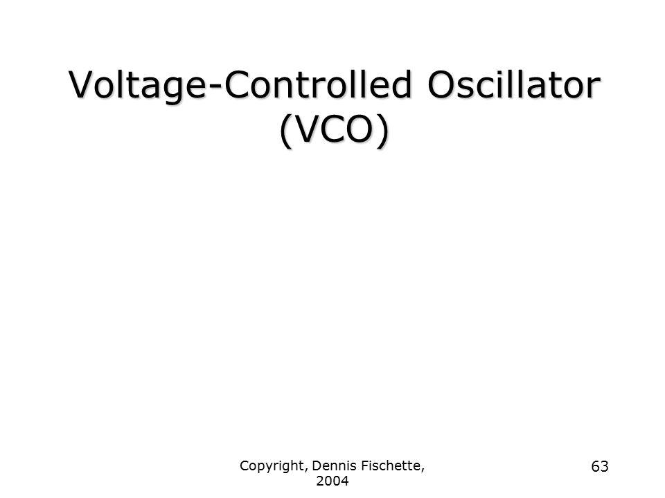 Copyright, Dennis Fischette, 2004 63 Voltage-Controlled Oscillator (VCO)