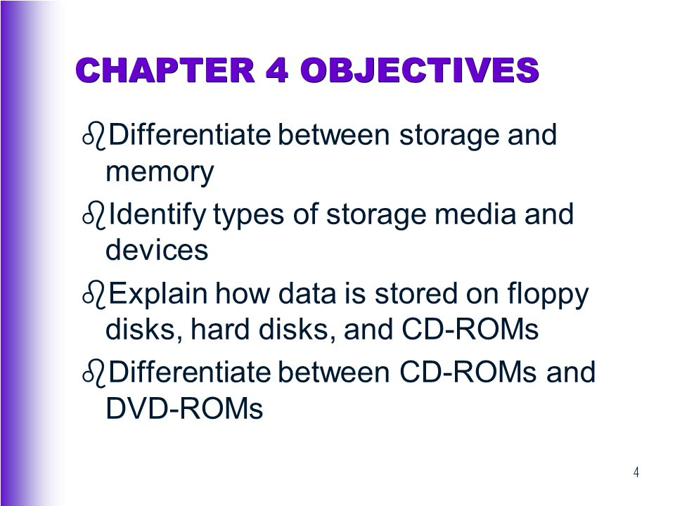 75 WHAT IS STORAGE.