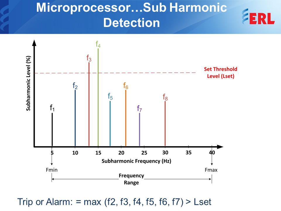Microprocessor…Sub Harmonic Detection 17 Trip or Alarm: = max (f2, f3, f4, f5, f6, f7) > Lset