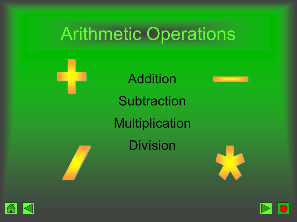 Arithmetic / Logic Unit ALU Performs arithmetic operations Performs logical operations