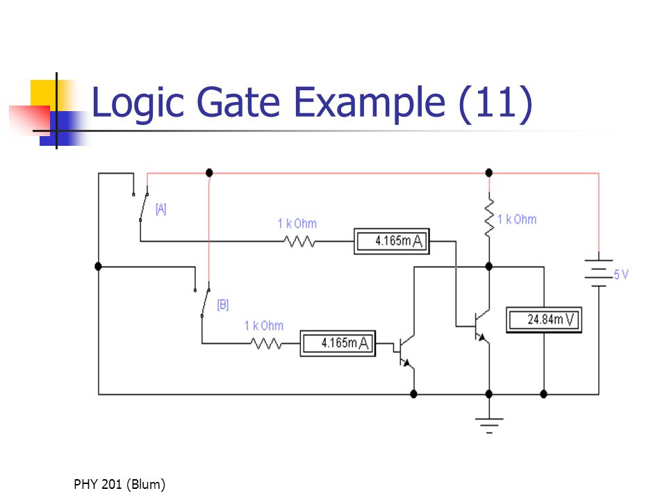 PHY 201 (Blum) Logic Gate Example (11)