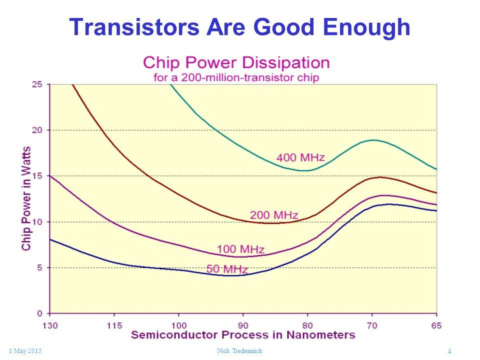 4 1 May 2015Nick Tredennick Transistors Are Good Enough