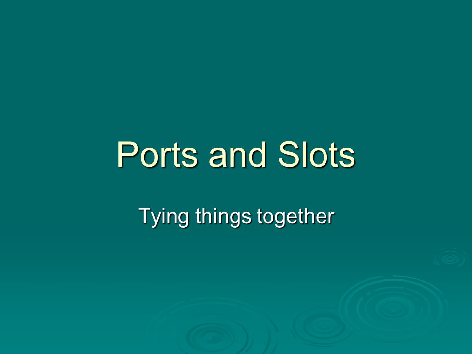 Ports and Slots  The system or motherboard includes several standard ports: Serial Port for attaching devices that send/receive messages one bit at a time (modems) Serial Port for attaching devices that send/receive messages one bit at a time (modems) Parallel Port for attaching devices that send/receive bits in groups (printers) Parallel Port for attaching devices that send/receive bits in groups (printers) Keyboard/Mouse Port for attaching a keyboard and a mouse Keyboard/Mouse Port for attaching a keyboard and a mouse