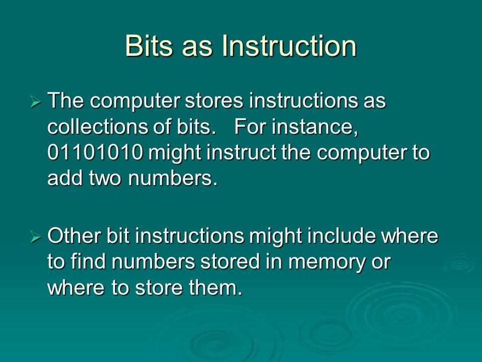 Bits, Bytes, and Buzzwords Byte Byte Kilobyte (KB) Kilobyte (KB) Megabytes (MB) Megabytes (MB) Gigabytes (GB) Gigabytes (GB) Terabytes (TB) Terabytes (TB) = 8 bits ≈ 1 Thousand Bytes ≈ 1 Million Bytes ≈ 1 Billion Bytes ≈ 1 Trillion Bytes Terms used to describe file size or memory size: