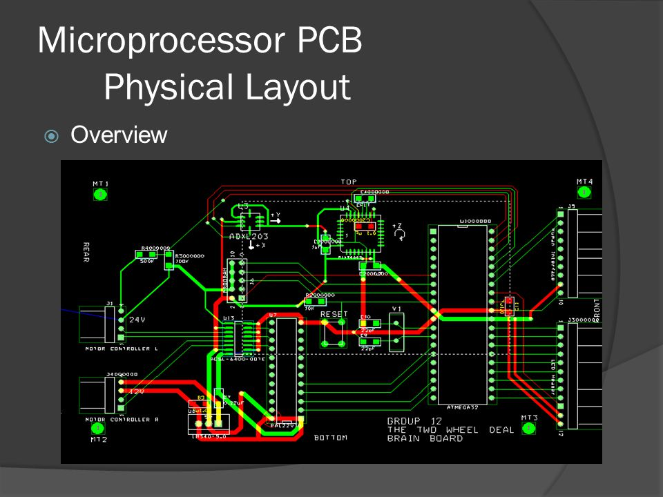 Microprocessor PCB Physical Layout  Overview