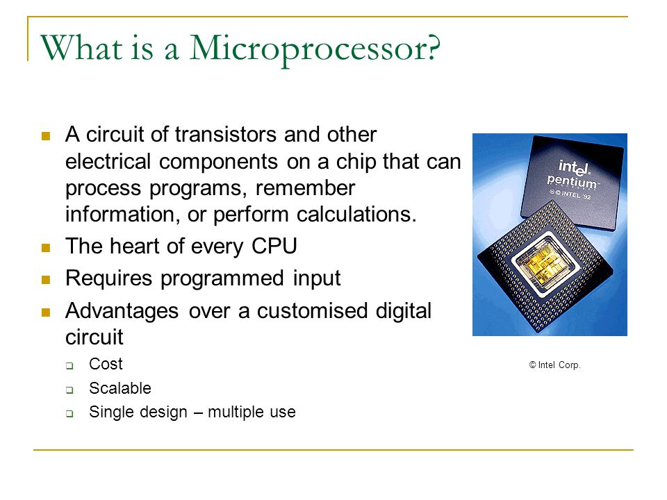 What is a Microprocessor.
