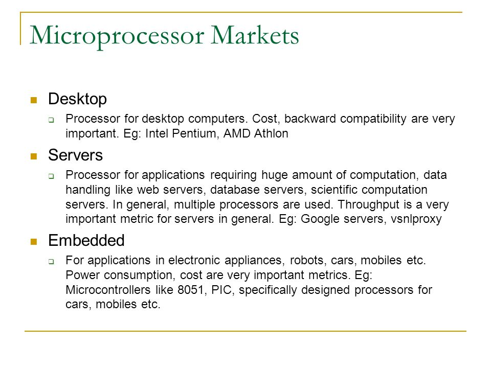 Structure The processor is a computing unit which needs to interact with memory for getting instructions as well as data Processor Instruction Memory Data Memory Address (PC) Instruction Address (reg) Data (loads) Data (stores)