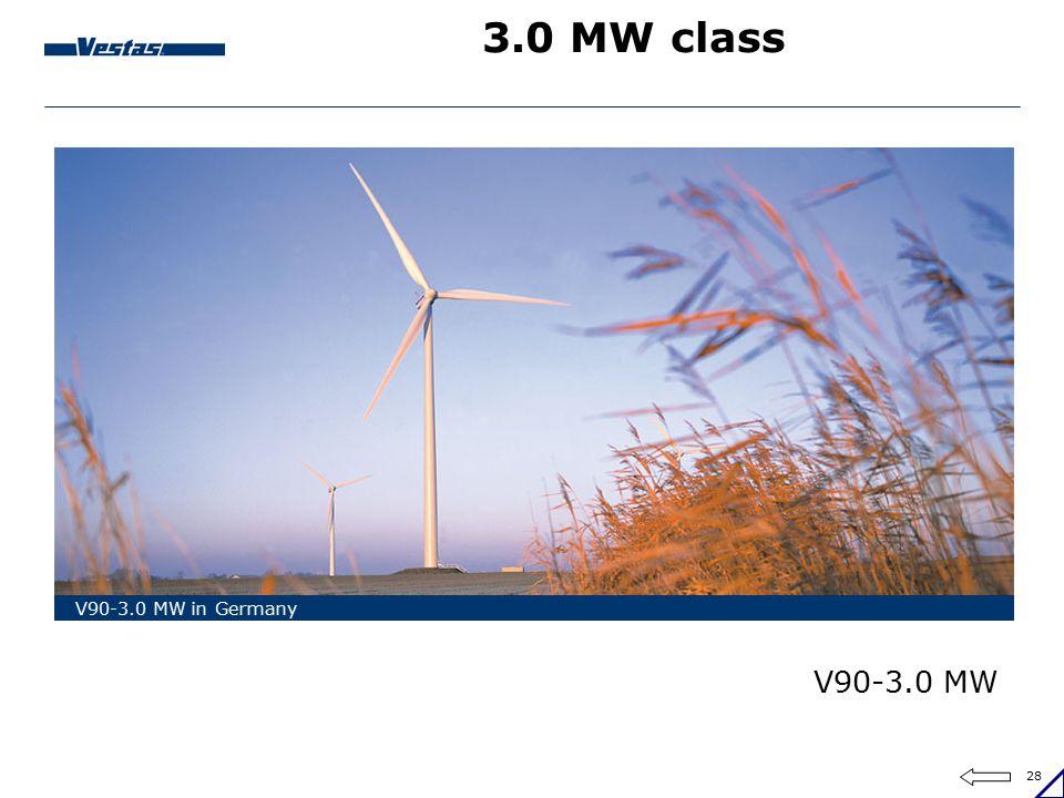 28 3.0 MW class V90-3.0 MW in Germany V90-3.0 MW