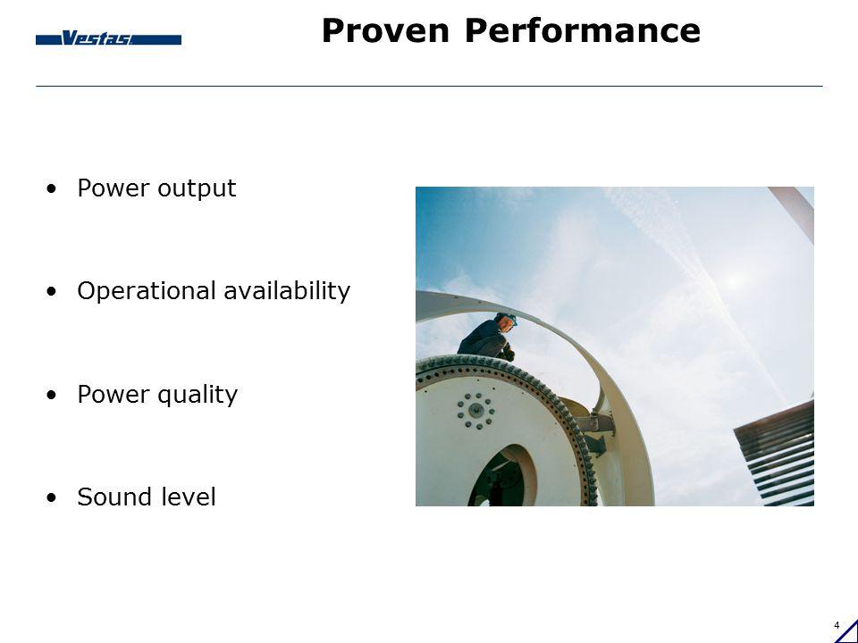 5 Development of Vestas turbines